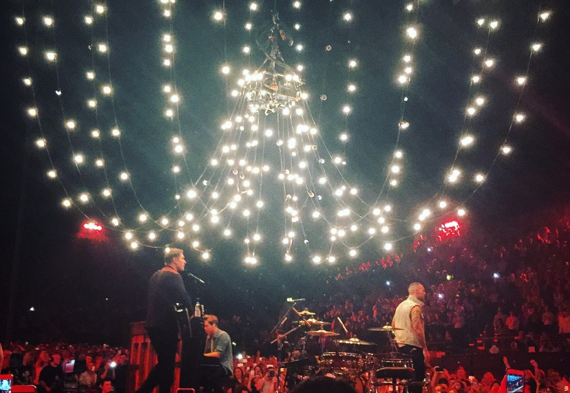 Busted performing at wembley arena London